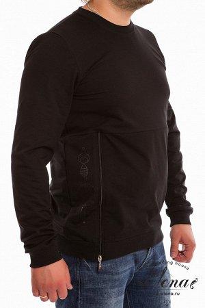 Толстовка Толстовка мужская выполнена из футер петли.На рукаве и боковой части толстовки нанесён принт, в качестве отделки вшита молния. Размерный ряд: 44-56. Состав Хлопок 95% Лайкра 5% Артикул 118