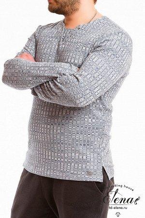 Джемпер Джемпер мужской, свободного силуэта, выполнен из джерси. Вырез горловины украшен люверсами. Внизу, по бокам разрезы. Около разреза, слева, пришита лейба. Размерный ряд: 46-62. Состав Хлопок 80