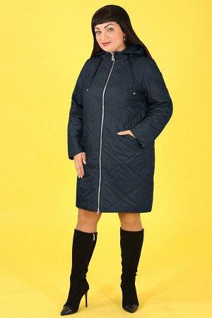 0У53 Т5585.1 Пальто+ капюшонтемно-бирюзовый