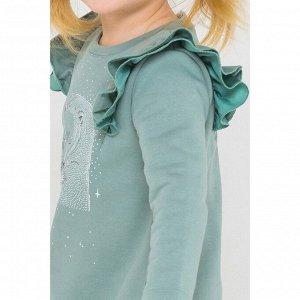 5552 Платье/серо-зеленый к217