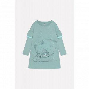 5555 Платье/серо-зеленый к219