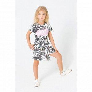 5505 платье/цветная графика на сахаре