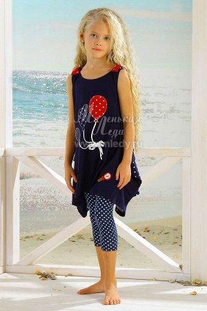 Лето-Платье,принт Шары     м.Леди