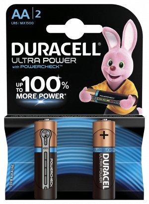 Батарейки DURACELL LR 6-2BL TURBO/Ultra Power (40)(Цена за 2 шт.)