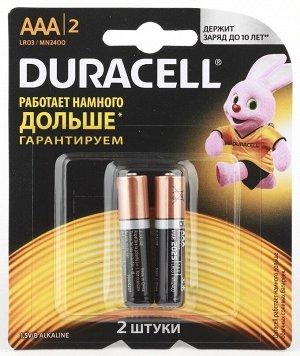 Батарейки DURACELL LR 03-2BL MN 2400 Basic.(24)(Цена за 2 шт.)