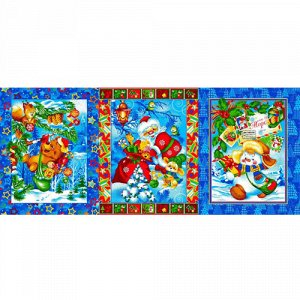 Полотенце 45х60, КУПОН, вафельное полотно, 100 % хлопок,  Новый год (синий)