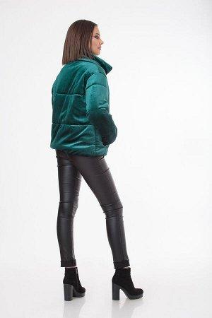 Куртка Куртка Liberta 505  Состав: Вискоза-30%; ПЭ-65%; Эластан-5%; Сезон: Осень-Зима Рост: 164  Куртка, еврозима, на синтепоне, прошитая по полочкам и рукавам, прямого силуэта на молнии. Куртка сниз