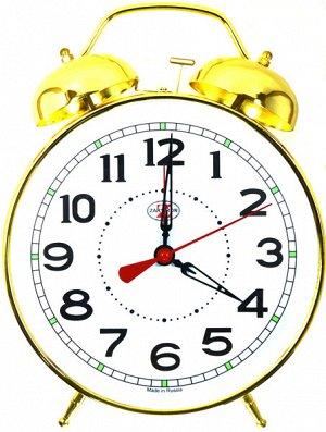 Будильник Тип механизма: Кварцевый Корпус: Латунь Минеральное стекло ГАБАРИТЫ (В\Ш\Г) : 290-230-75 (мм.)