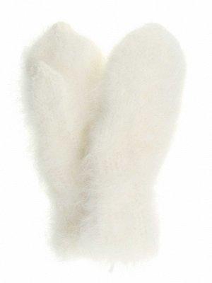 Варежки женские из пуха ангорского кролика ручной вязки