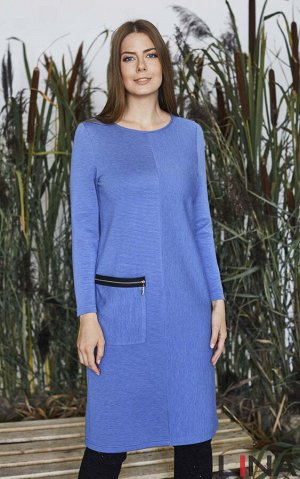 Платье Длина: 101 см Состав: вискоза 77%, полиэстер 23%. ,синий