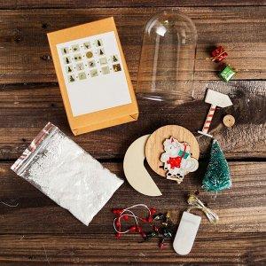 """Набор для творчества - создай ёлочное украшение """"Ёлочка с подарками"""" с подсветкой"""