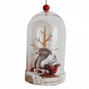 """Набор для творчества - создай ёлочное украшение """"Белочка у дерева в колбе"""""""