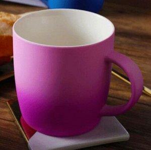 """Кружка """"градиент"""", розово-фиолетовая"""