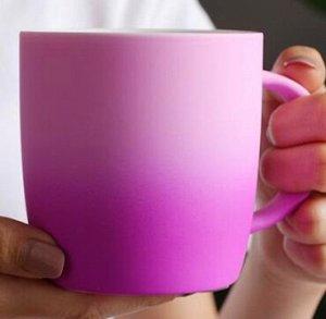"""Кружка """"градиент"""", розовая"""
