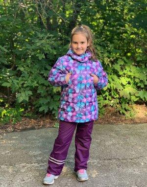 Куртка зимняя для девочек (Ткань верха Мембранная,утеплитель Сиберия 300 , подкладка флис/тафета, застежка-молния,внутренний кар
