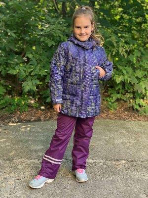 Куртка зимняя для девочек (Ткань верха Мембранная,утеплитель Сиберия 300 , подкладка флис/тафета,застежка-молния, внутренний кар