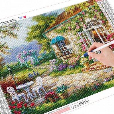 Рисование по номерам.Алмазная живопись.Украшаем дом.Игрушки. — мозаика с рамкой 30*40 — Хобби и творчество