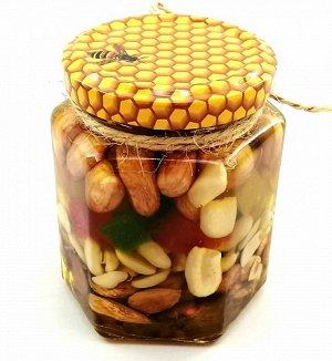 Ассорти орехов в меду 165 мл.