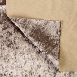 Плюш винтажный 50х50см, серый 100% п/э