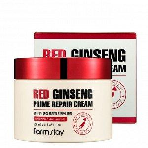 FarmStay Red Ginseng Prime Repair Cream Восстанавливающий крем с экстрактом красного женьшеня 100 мл