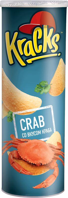 Картофельные чипсы Kracks Краб туба 110гр