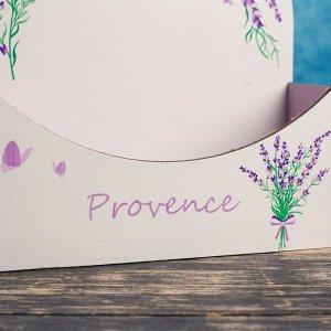 """Кашпо деревянное 18?7.5?19.5 см Конверт Арка """"Provence"""", с печатью"""