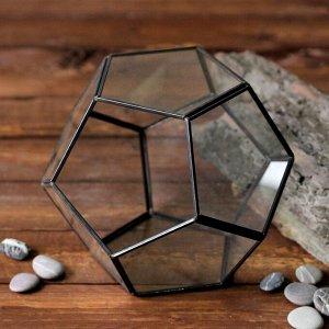 Флорариум каркас 18x20 см черный