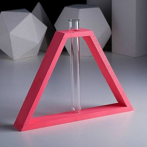 "Рамка-ваза ""Пирамида"", 28,5 х 18,5 см, розовый"