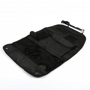 Органайзер на спинку сиденья 39 х 60 см, черный
