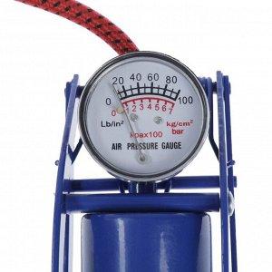 Насос ножной с манометром, 1 цилиндр
