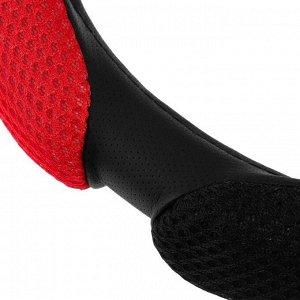 Оплетка TORSO, анатомическая, 6 подушек, размер 38 см, чёрно-красный