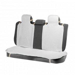 Накидки на заднее сиденье, нат. шерсть, 135х55 и 75х55 см, белый, набор 3 шт