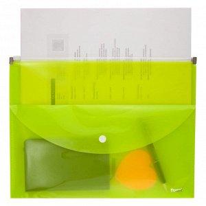 Папка-конверт Axent 1430-08-A zip-lock, 2 отделения, A4, желтая