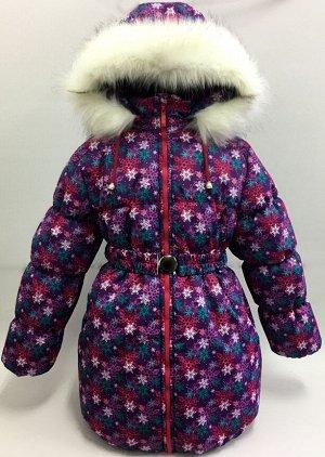 "Пальто зимнее для девочки КЗДМ-4 ""Алиса"" р-р 146,"