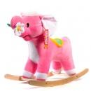 Слон-качалка с цветком (розовый) ЭКО См-750-4Сл ш75408