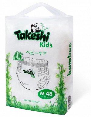 Takeshi Kid's Подгузники-трусики для детей бамбуковые М (6-11 кг) 48 шт