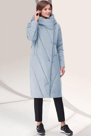 Пальто Пальто Lenata 11043 ментол  Состав ткани: ПЭ-100%;  Рост: 164 см.  Модный цвет, горизонтальная стежка, высококлассная фурнитура и бельгийский утеплитель ИЗОСОФТ 200 гр/м2 делают модель стильно
