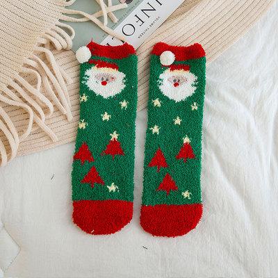 Плюшевые новинки! Теплые, мягкие пижамки, халатики, флис! — Носки для всей семьи. Новогодний Принт! — Носки