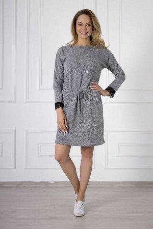 Платье 690 ангора кружево