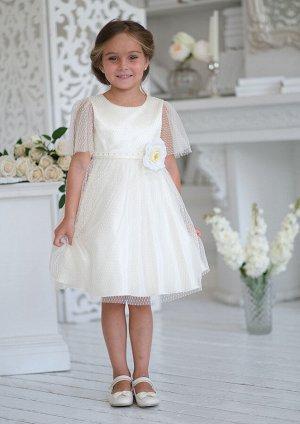 Мерсия нарядное платье ванильный