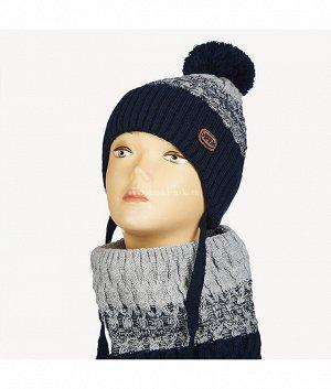 81-3-F (50-52) (шапка+снуд) Комплект