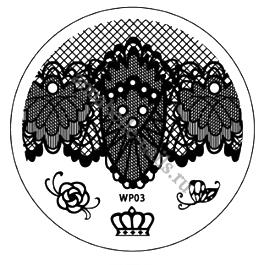 Диск с шаблонами для дизайна ногтей WP03