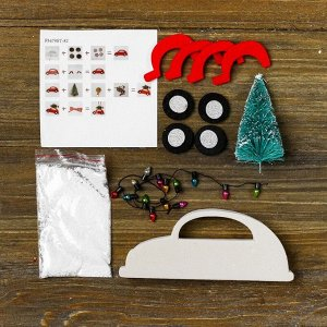 Набор для творчества - создай ёлочное украшение «Миша везёт ёлочку»