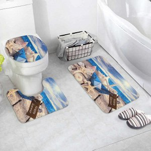 Набор ковриков для ванны и туалета «Бумажный корбалик», 3 шт: 37?43, 39?48, 50?80 см