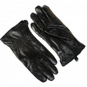 Мужские перчатки натуральная кожа на евромеху Гигант