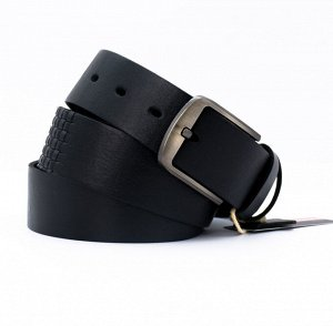 Ремень джинсовый 40 мм гладкий+кубики DN-h-0144