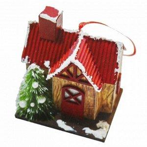 Набор для творчества - создай ёлочное украшение «Дом с красной крышей»