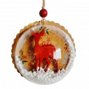 Набор для творчества - создай ёлочное украшение «Олень со снегом»