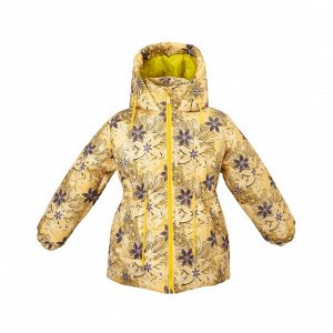 Куртка зимняя Арт. 05033 принт осенние цветы