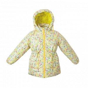 Куртка демисезон Арт. 05035 принт цветы с желтым цветом